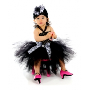 Boutique Zebra or Leopard Crocheted Tutu Dress Set