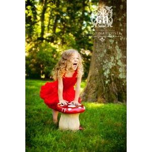 Red Chiffon Ruffle Petti Skirt