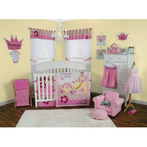 Storybook Princess 3PC Crib Bedding Set