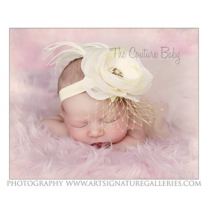 Golden Ivory Shabby Chic Headband
