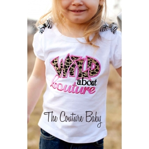 Wild About Couture Leopard Cheetah Print Personalized Girl's Shirt