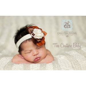 "Pumpkin Orange & Brown ""Fall Harvest""  Headband"