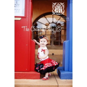 Minnie Red, White, & Black Polka Dot Pettiskirt (0-9m)