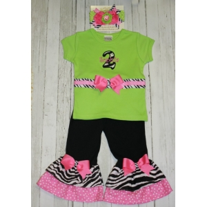 Lime Zebra Flair Birthday Rhumba Set