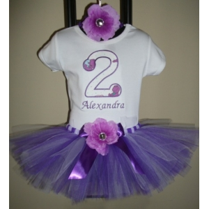 Barney Birthday Personalized Purple & Lavender Tutu 3 Piece Set