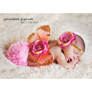 Pink & Orange Sorbet Butterfly Wing & Headband Set