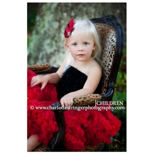 Feather Diva Red & Black Headband