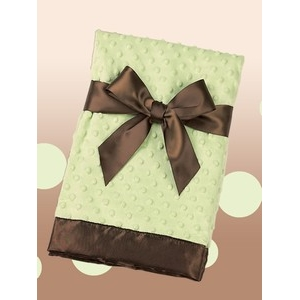 Green & Brown Luxe Personalized Blanket