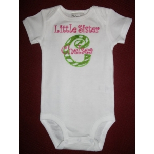 Little Sister Personalized Onesie