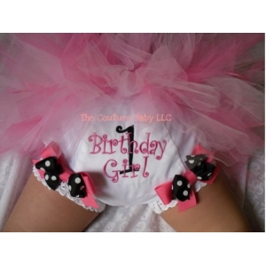 Polka Dot Birthday Girl Personalized Diaper Cover