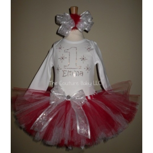 "Winter ""One""derland Swarovski Crystal Tutu Set"