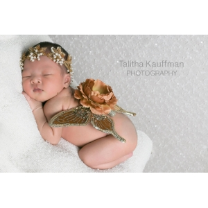 Sequin Golden Newborn Wings