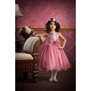 Pink Diva Sequin Tulle Party Dress