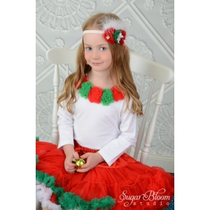 Christmas Rosette Pettiskirt Set