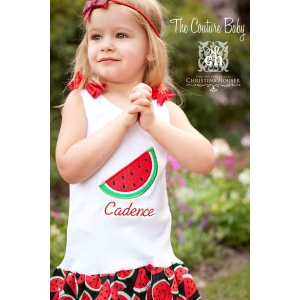 Little Miss Watermelon Personalized  Dress