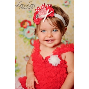"Red & White ""Peppermint Twist"" Christmas Headband"