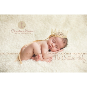 Champagne Cream Baby Crown