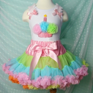 Summer Rainbow Pettiskirt Set
