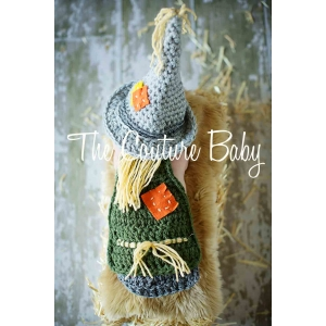 Lil Scarecrow Hat & Cape Crochet Set