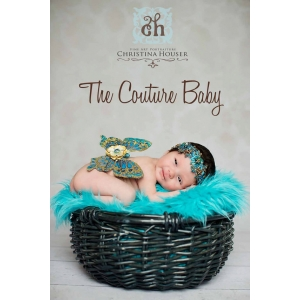 Golden Turquoise Newborn Baby Wings