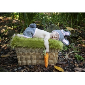 Lil Bunny Hat & Diaper Cover Set