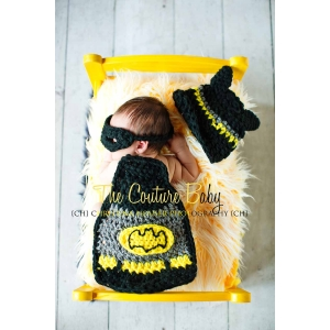 Caped Crusader Set 3 Piece Crochet Set