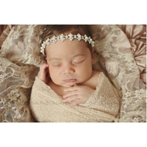 Bejewel Me Pearl & Rhinestone Halo Headband Photo Prop