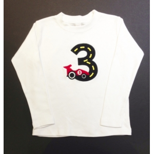 Personalized Race Car Birthday Shirt 1 2 3 4 5 6