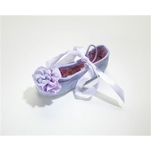 Lavender Leather Ballet Slippers