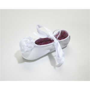 White Leather Ballet Slippers
