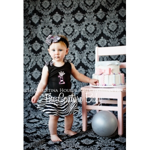 Birthday Princess Zebra Dress & Headband Set