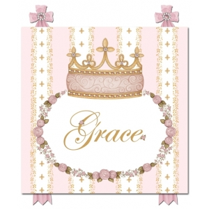 Posey Pink Posh Princess Wall Hanging
