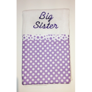 Lavender Dot Burp Cloth