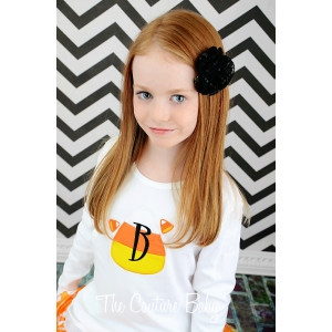 Candy Corn Personalized Halloween Shirt or Onesie (Boy or Girl Style)