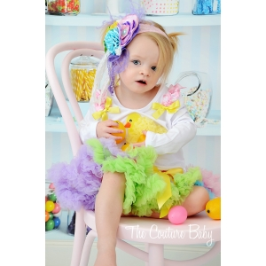 Colorful Easter Chick Pettiskirt Set
