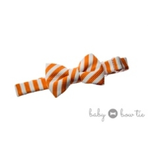 Burnt Orange & Cream Baby Bow Tie