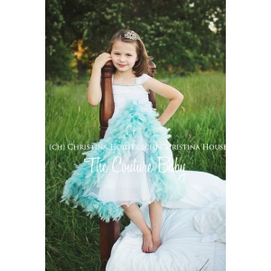 Frozen Couture Feather Princess Dress