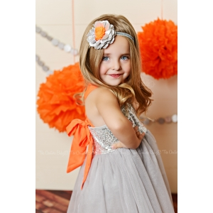 Disco Party Silver & Orange Headband