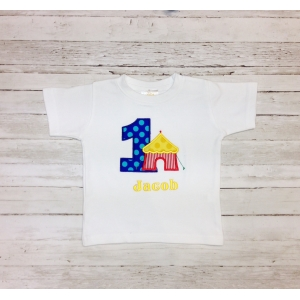 Circus Theme Personalized Birthday Shirt