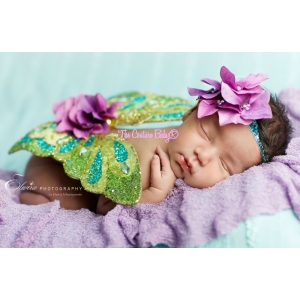 Hydrangea Fantasy Wings & Headband Set