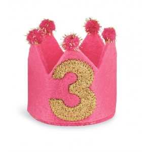 I'm Three Birthday Crown Headband Mud Pie