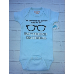 Boy Friend Material Blue Onesie