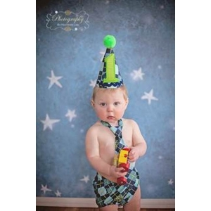Boy's 1st Birthday 3 pc Argyle Cake Smash Set