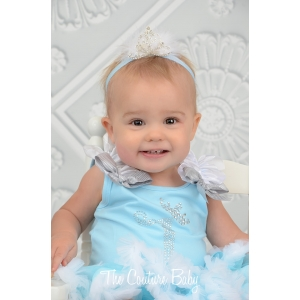 Elsa Crystal Birthday Pettiskirt Set
