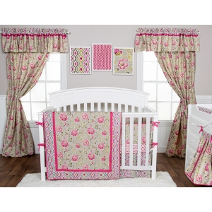 Waverly® Jazzberry 3PC Crib Bedding Set