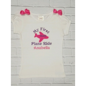 "Custom ""My First Plane Ride"" Personalized Shirt or Onesie"