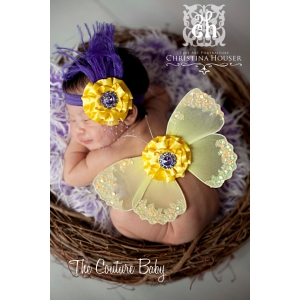 Customized Baby Wing Set with PUFF Flower