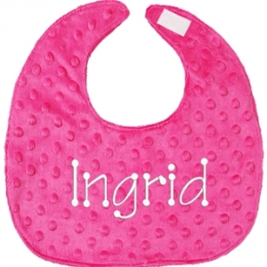 Hot Pink Minky Personalized Bib