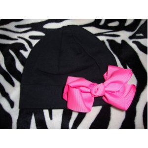 Black & Hot Pink Personalized Hat