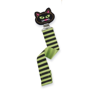 Cat Halloween Pacifier Clip